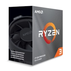 Amd Ryzen 3 3100, 4-Core/8 Threads Unlocked, Max Freq 3.9GHz, 18MB Cache Socket Am4 65W, With Wraith Stealth Cooler