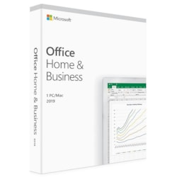 Microsoft Office 2019 Home &Amp; Business, Retail Software, 1 User - Medialess V2